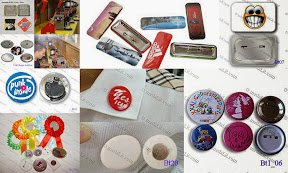 Button Badges, button openers, magnetic buttons and rosettes