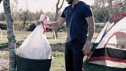 *垃圾袋帳篷Trash Bag Tent:GLAD綠色環保新設計! 4