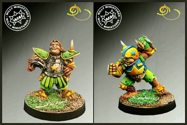 Halflings Star Players Blood Bowl Willy miniatures