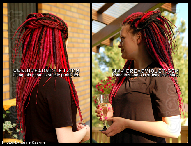 Synthetic Dreads Dreadviolet Hair Creations