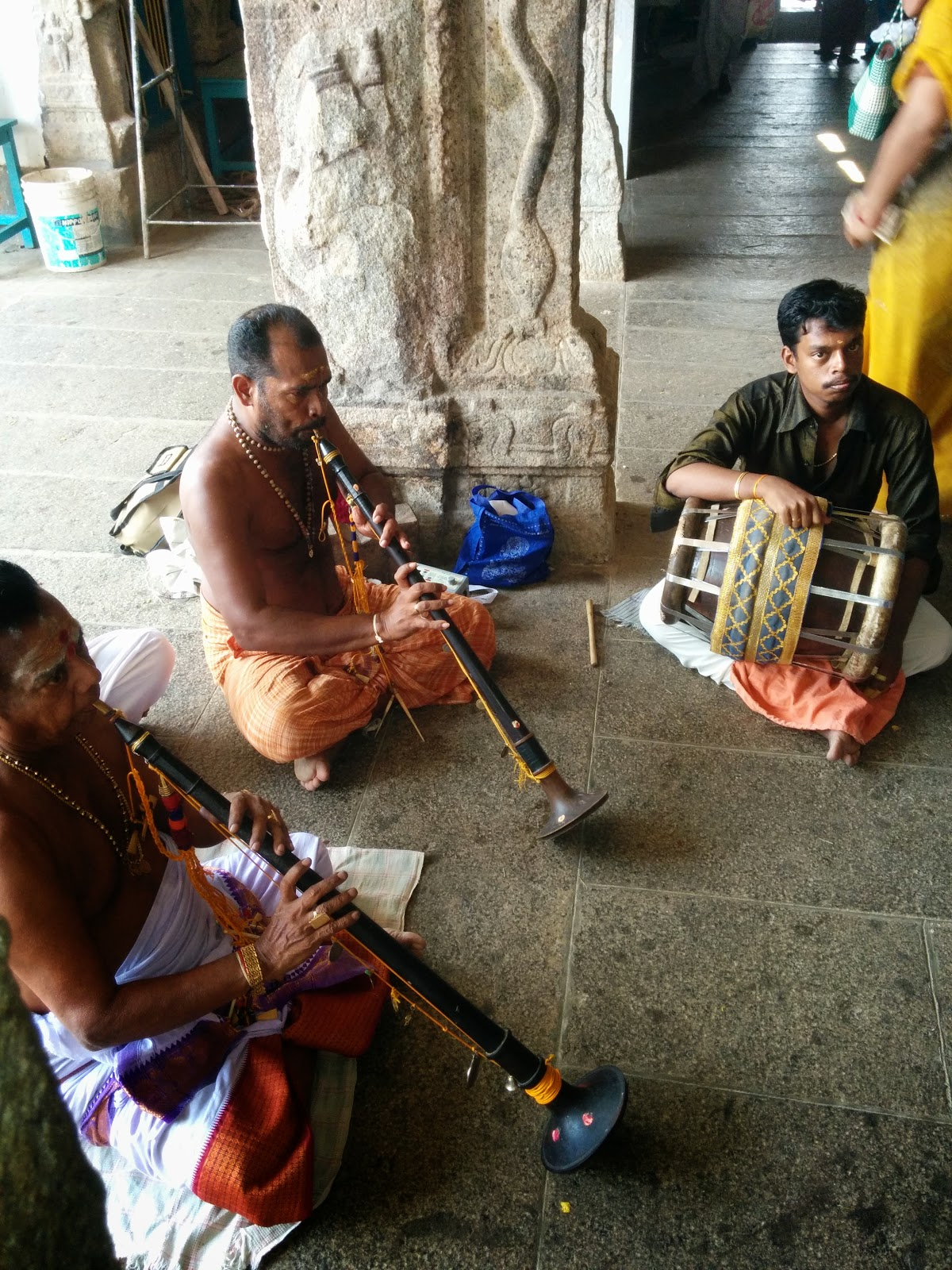 Nagasvaram and Thavil - traditional musical instruments of the south