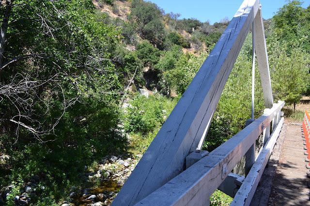 A frame bridge along the road