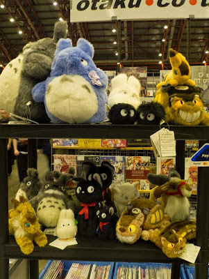 Studio Ghibli plush toys at London Film and Comic Con