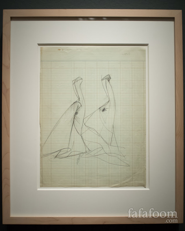 Charles James, Swan ball gown sketch, 1953.