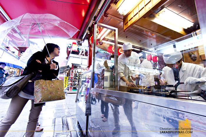 At Asakusa's Nakamise Shopping Street