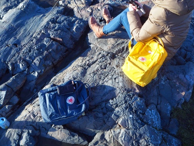 kånken, kettureppu, sininen, harmaa, sinertävä, keltainen, blue, yellow, fjällräven, reppu, bag,