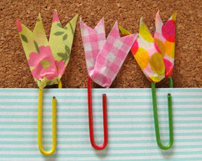 washi tape paper clips photo