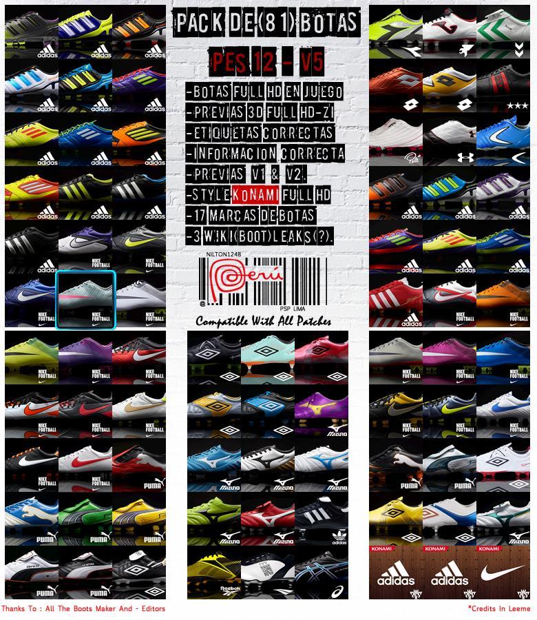 Bootpack com 81 chuteiras - PES 2012