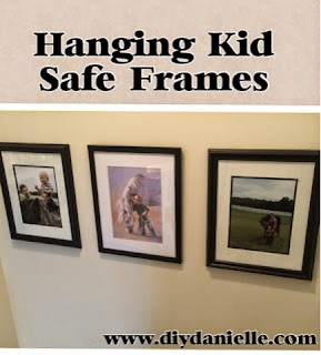 How to hang frames so they won't fall