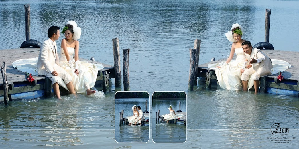 Hòa mình với thiên nhiên cùng diễn viên Diễm Châu trong album hình cưới quận 2