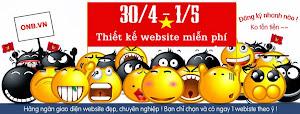 Thiết kế website miễn phí nhân dịp lễ 30/4-1/5 ! Nhiều quà tặng hấp dẫn
