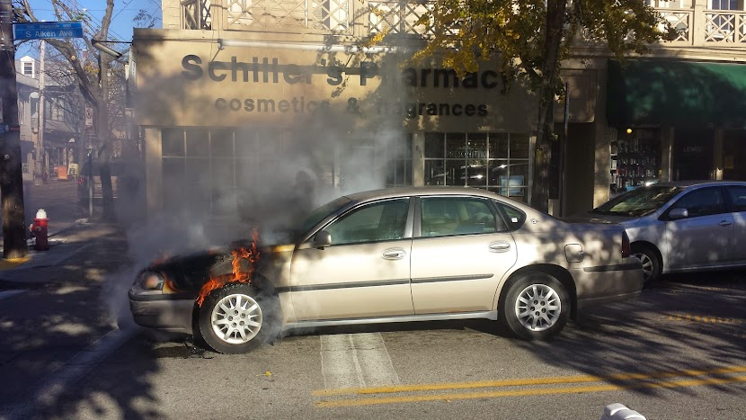 Pittsburgh Car Fire