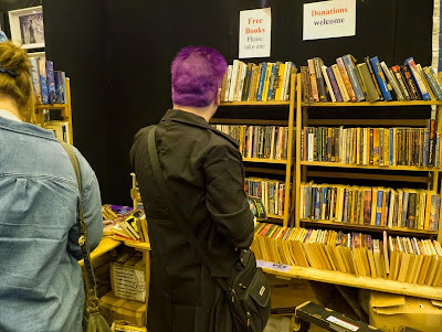 Free books at the LonCon stand at London Film and Comic Con