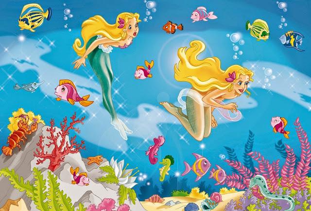 Bức tranh Xếp hình Nàng Tiên Cá 2 tranh 26 mảnh mã 56113 thật dễ thương