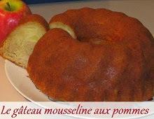 Gateau mousseline aux pommes