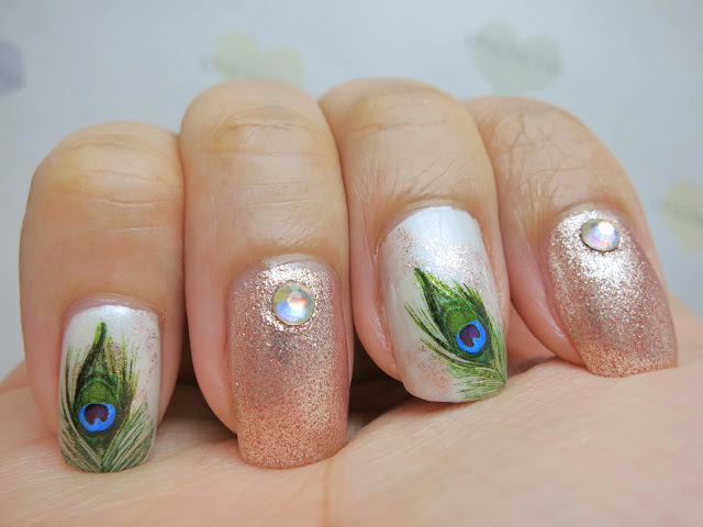 Peacock Feather Water Decal Nail Art BOP300