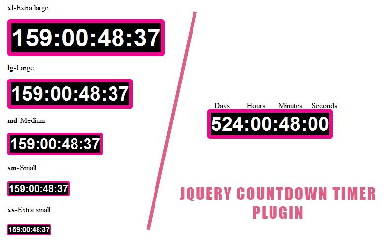 jQuery countdown Timer Plugin