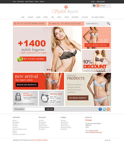 Lingerie Web Site Design