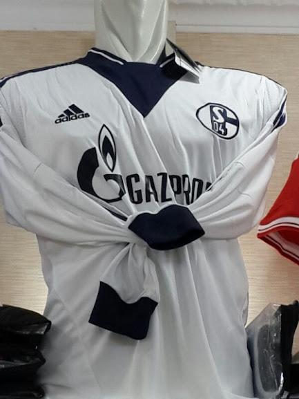 Jual Jersey Schalke Lengan Panjang Away Putih 2014