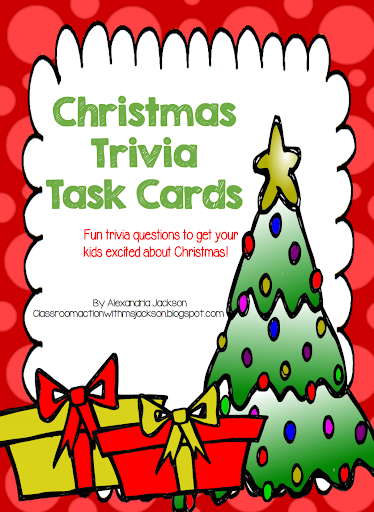 http://www.teacherspayteachers.com/Product/Christmas-Trivia-Task-Cards-FRREBIE-1603533