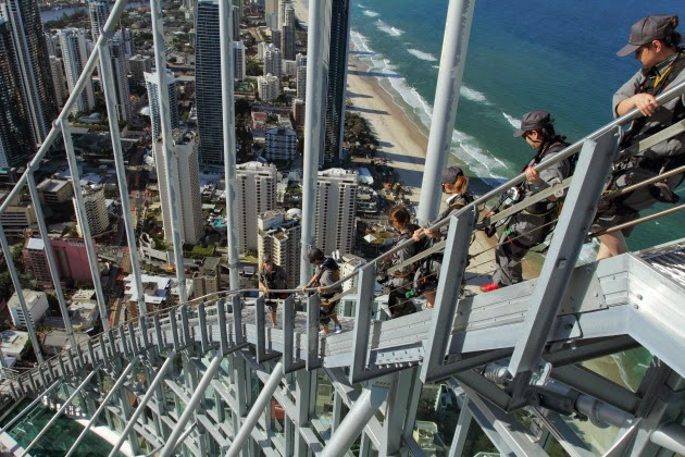 Conquering SkyPoint - Australia's highest external building climb