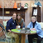 Lois Lowry and members of the manatee family