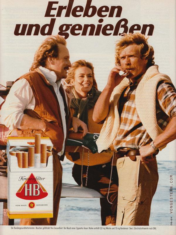vongestern Blog: Acceptable in the 80's: 20 Zigarettenwerbungen