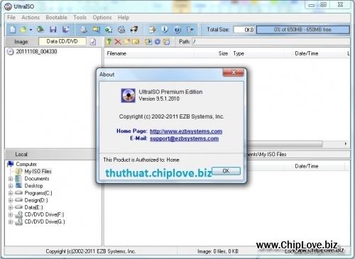 UltraISO Premium Edition 9.5.1 FULL + Serial - Trình biên tập ảnh đĩa xuất sắc - Image 1