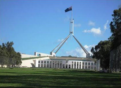 New Parliament House, opened in Australia's Bi-centennial year, 1988
