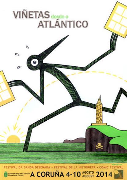 Cartel Viñetas dende o Atlántico 2014