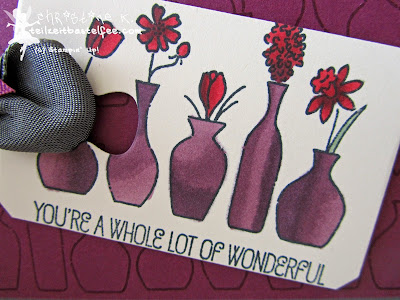 stampin up, vivid vases, blendabilities, mix marker, chalk talk