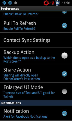 FriendCaster Share Action