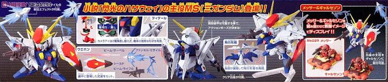 XI Gundam Hathaway's Flash BB-386 SD dễ dàng lắp ráp và mang theo trong giỏ