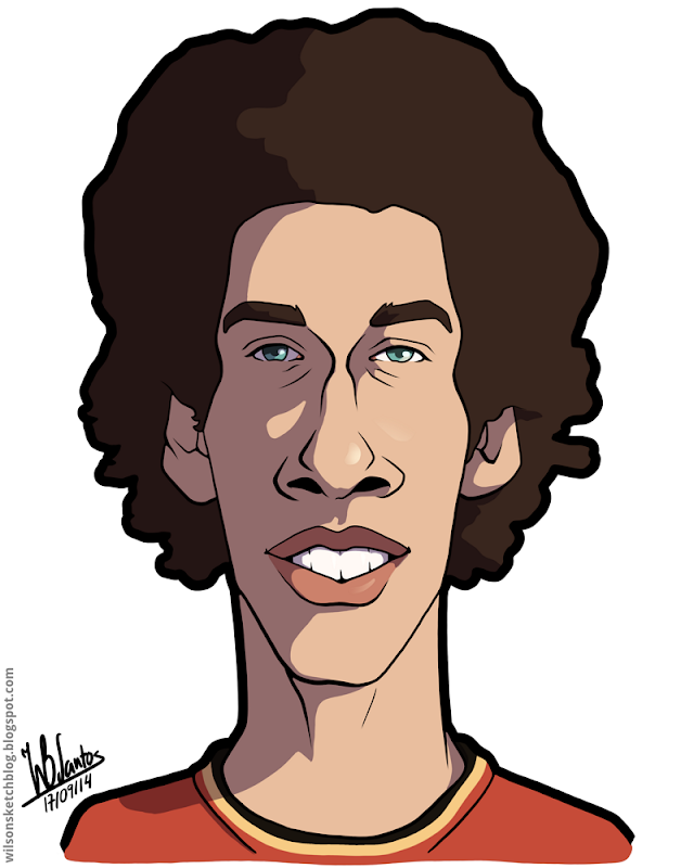 Cartoon caricature of Axel Witsel.