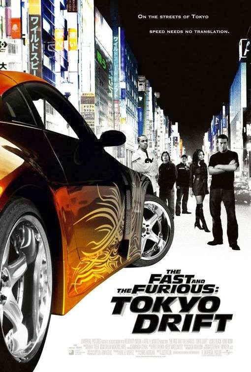 Poster Of The Fast and the Furious: Tokyo Drift (2006) Full Movie Hindi Dubbed Free Download Watch Online At Alldownloads4u.Com