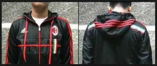 Jual Jaket Hoodie AC Milan Hitam
