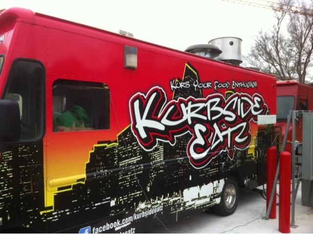 Houston Food Truck Reviews Kurbside Eatz Chicken Paratha Taco And