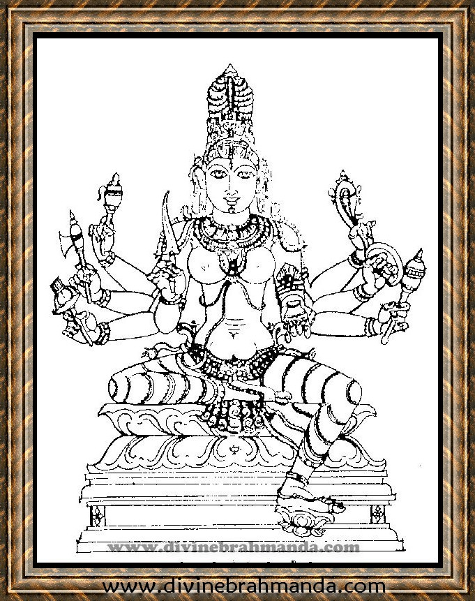 Soundarya Lahari Sloka, Yantra & Goddess For Cure From All Types of Poisons - 20