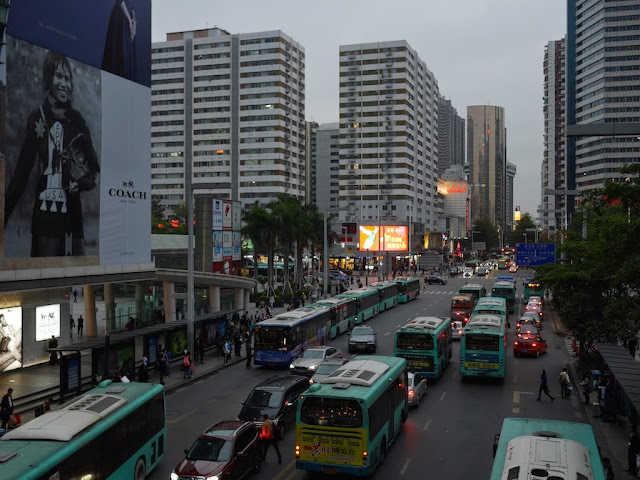 traffic on a road in Shenzhen