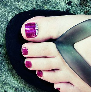 Slingback Heels és Pedikűr