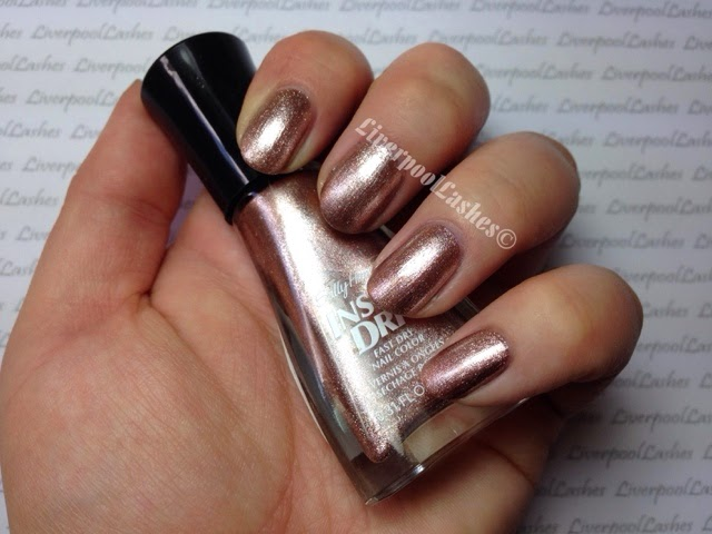 liverpoollashes liverpool lashes rose gold nails sally hansen instadry style steel cnd shellac chiffon twirl