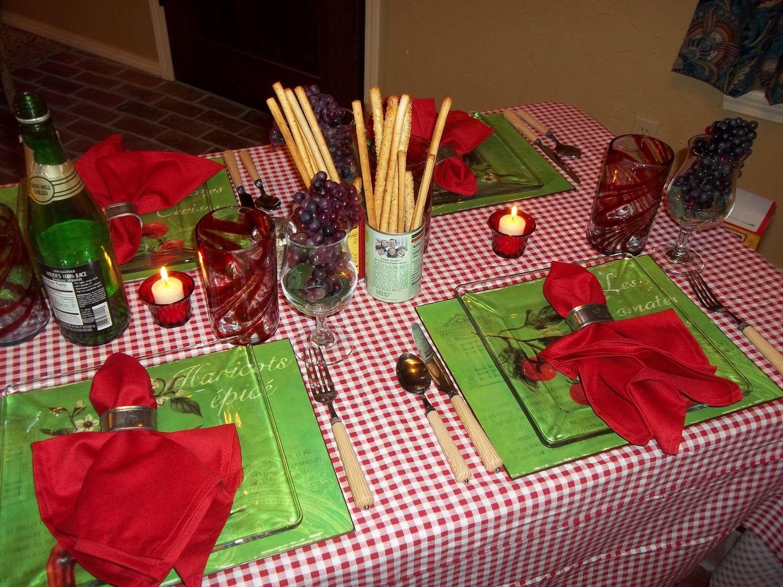 The Posh Pixie Italian Table Setting