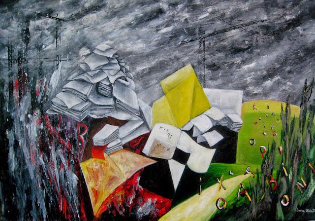 Humanity 3,pintura en acrílico de Divina Sabaté Corbella