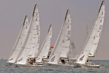 J/70 one-design sailboats- sailing Long Beach Race Week