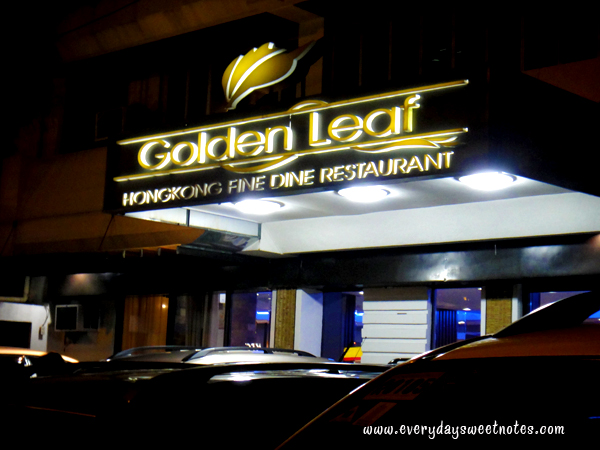 Golden Leaf along Roces