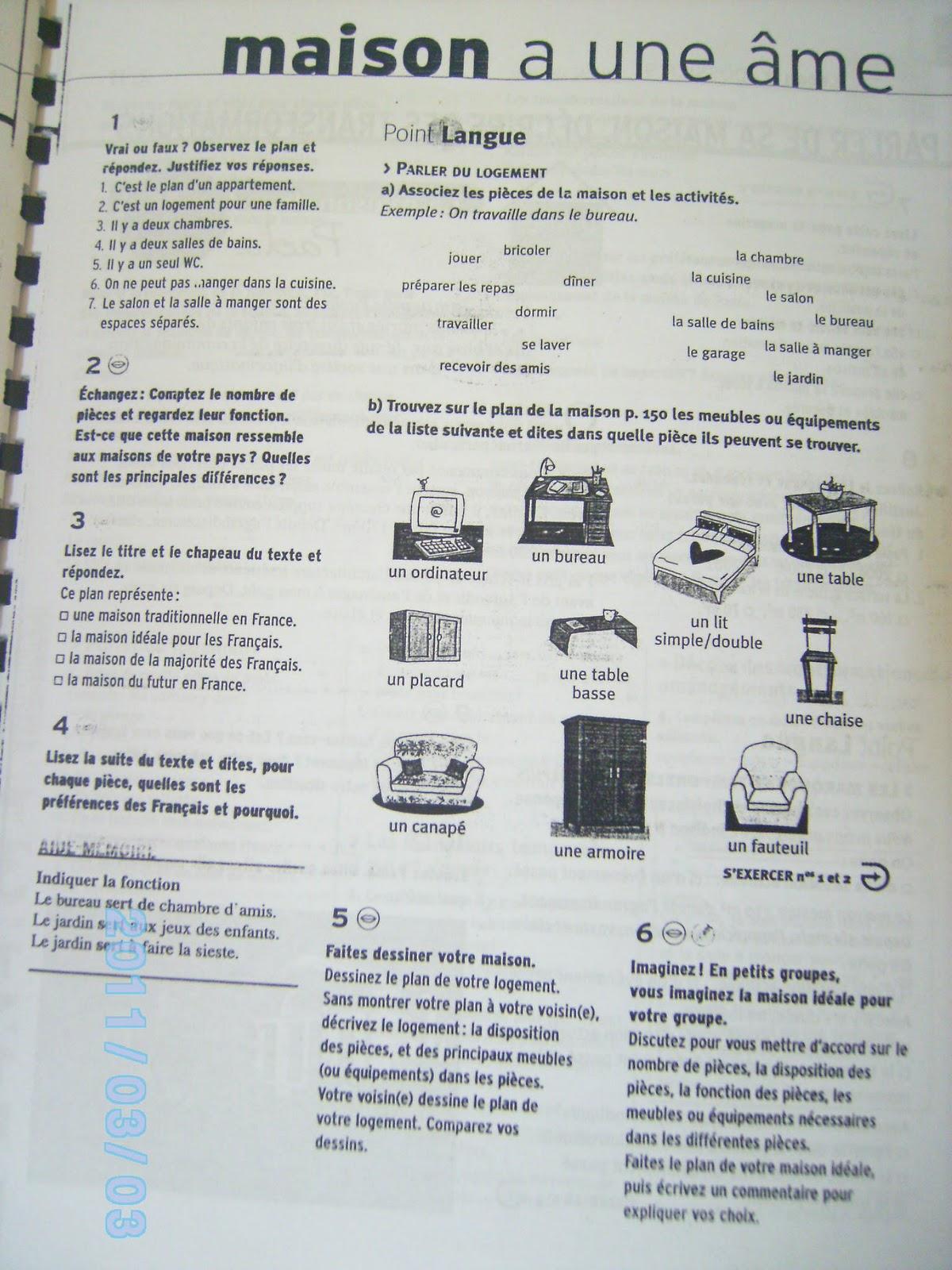 French 10 11 Portfolio Lecon 2 Dossier 9