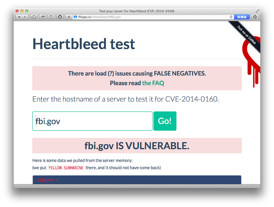 OpenSSL CVE-2014-0160 Heartbleed 檢測: fbi.gov