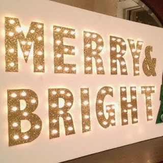 DIY Merry & Bright Marquee