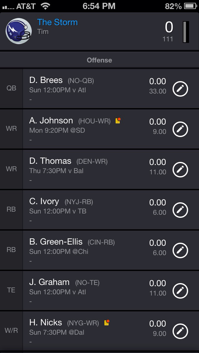 Draft and Manage Your Yahoo Fantasy Football Team on the Go