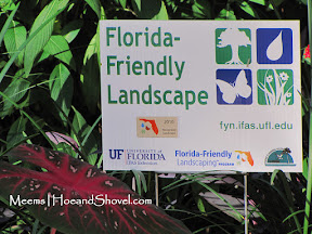 Hoe and Shovel is a certified Florida-Friendly Garden